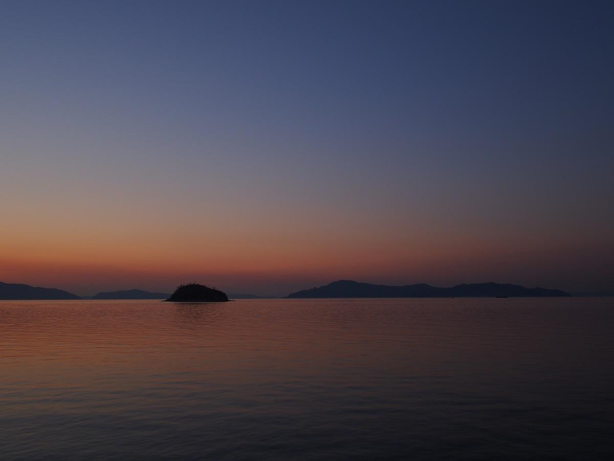 宇多津臨海公園の夕焼け